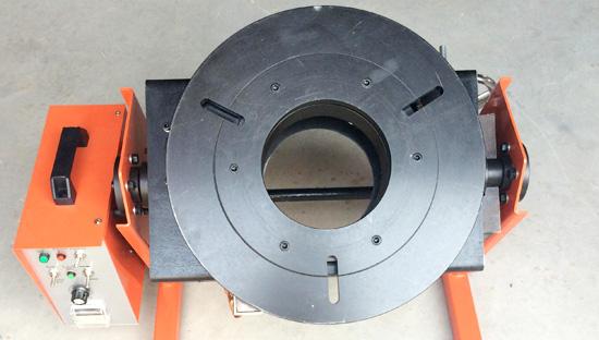 上弘焊接变位机用于汽车排气管消声器焊接